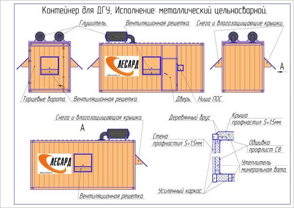 изготовление металлических цельносварных контейнеров
